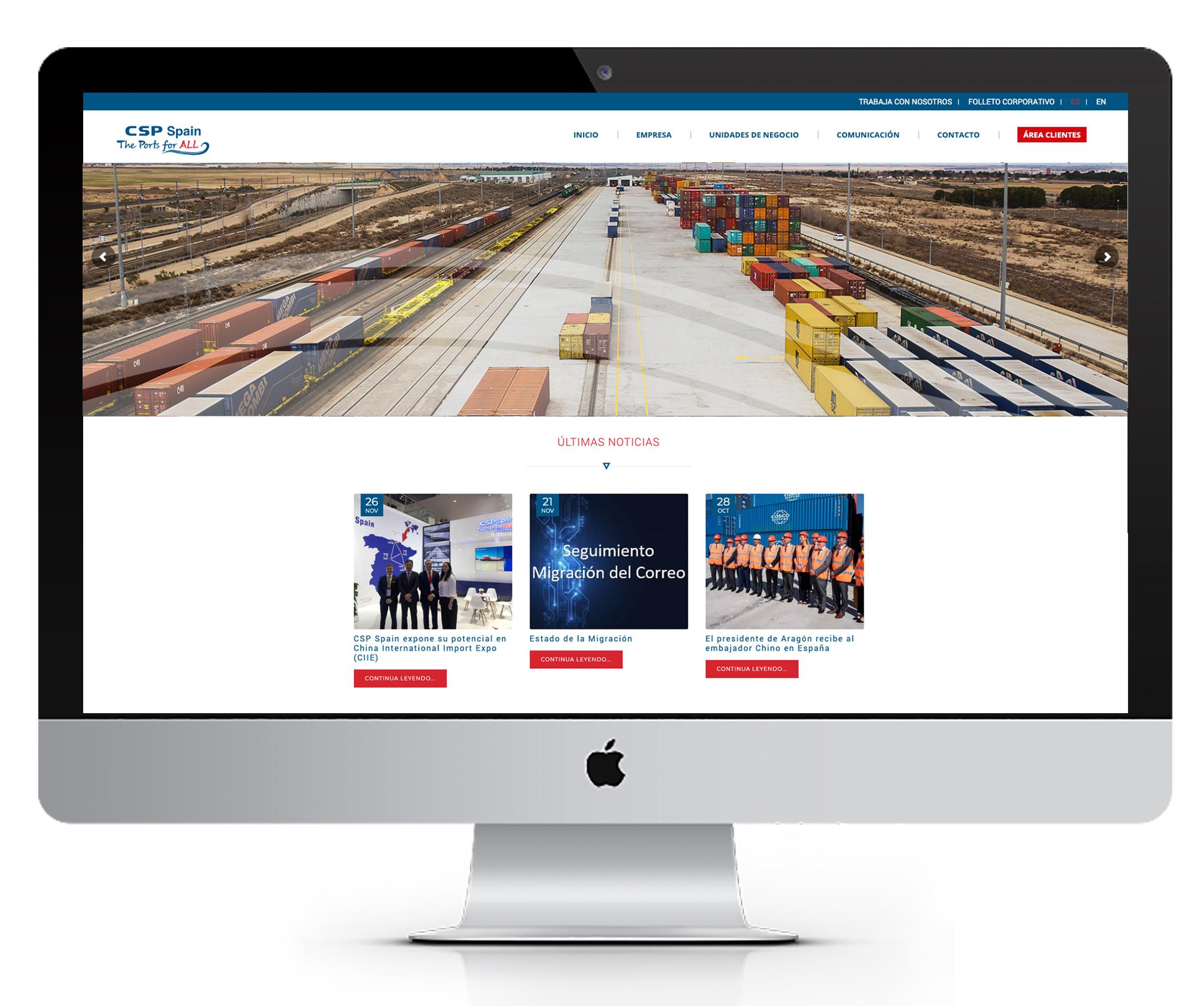 Diseño y creación web CSP SPAIN